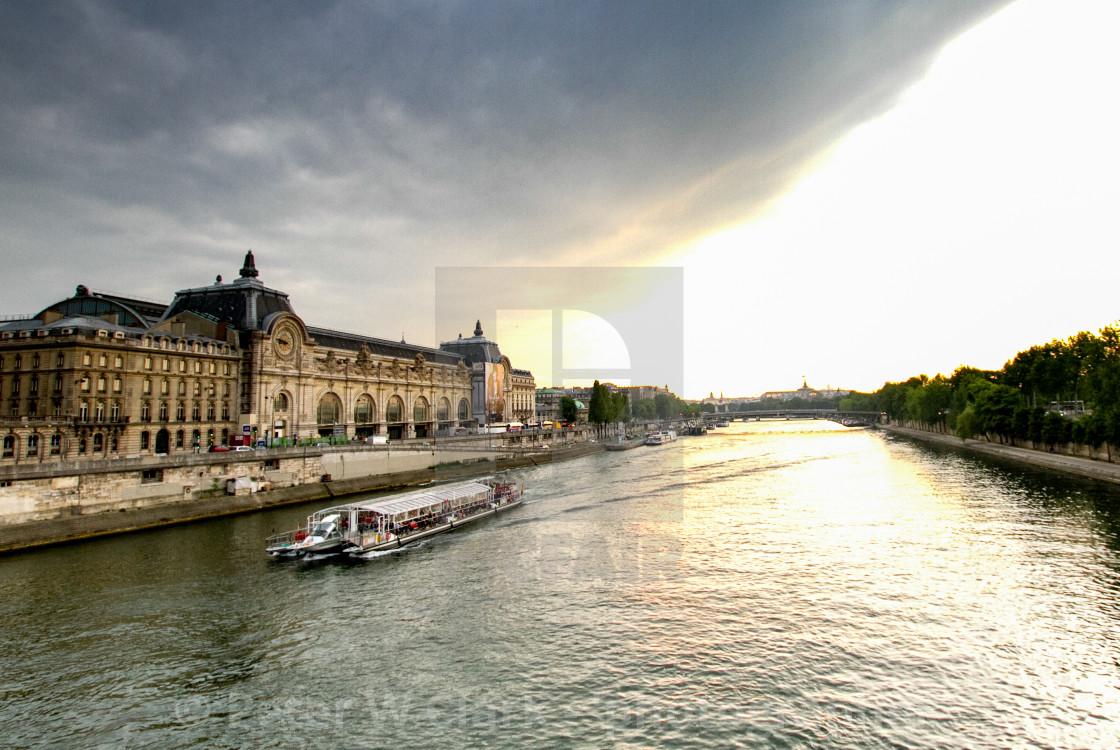"""""""Paris, River Seine Scenic Cruise"""" stock image"""