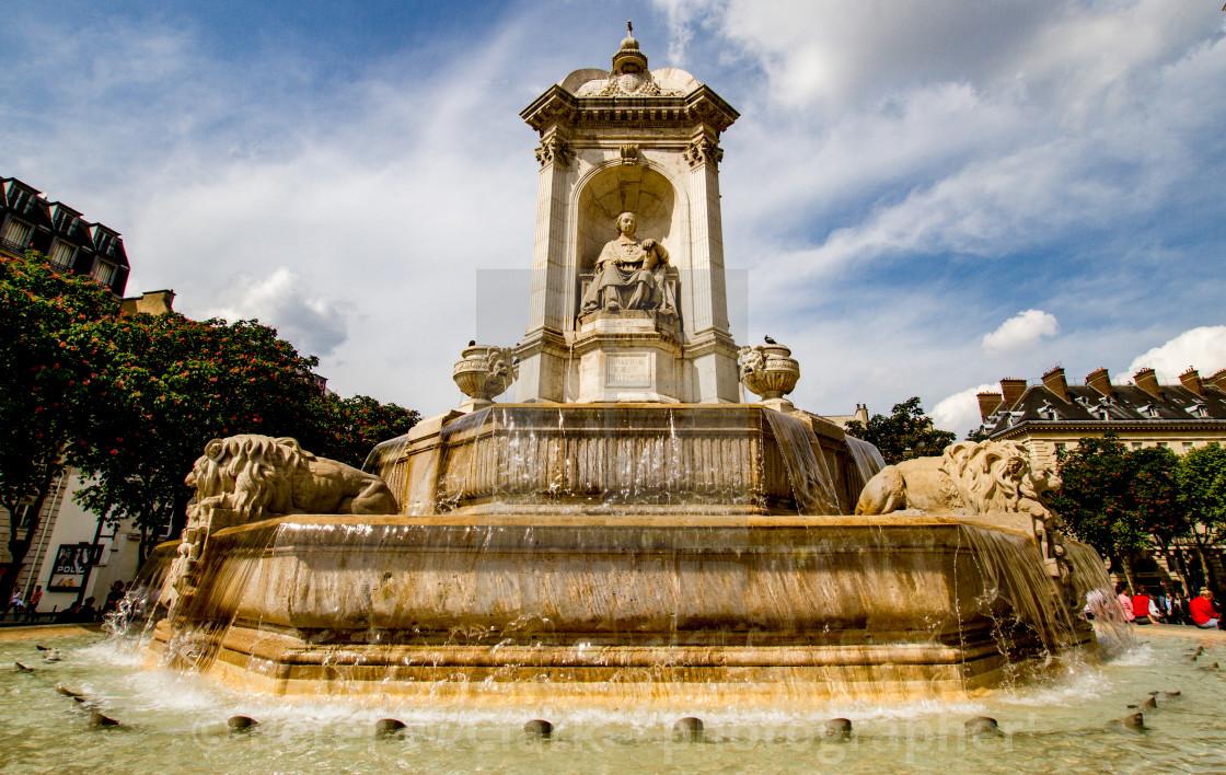 """Fontaine Saint-Sulpice, Paris"" stock image"