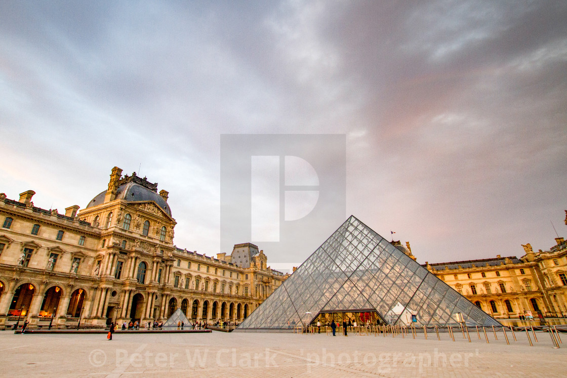 """""""The Louvre Pyramid and The Louvre,Paris"""" stock image"""
