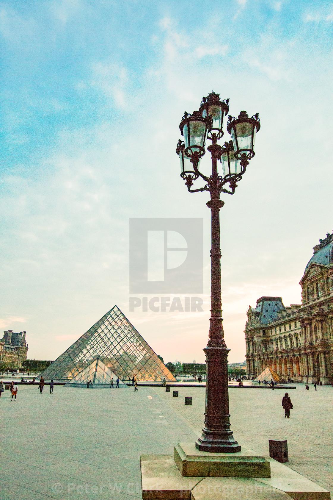 """""""The Louvre Pyramid, Paris"""" stock image"""