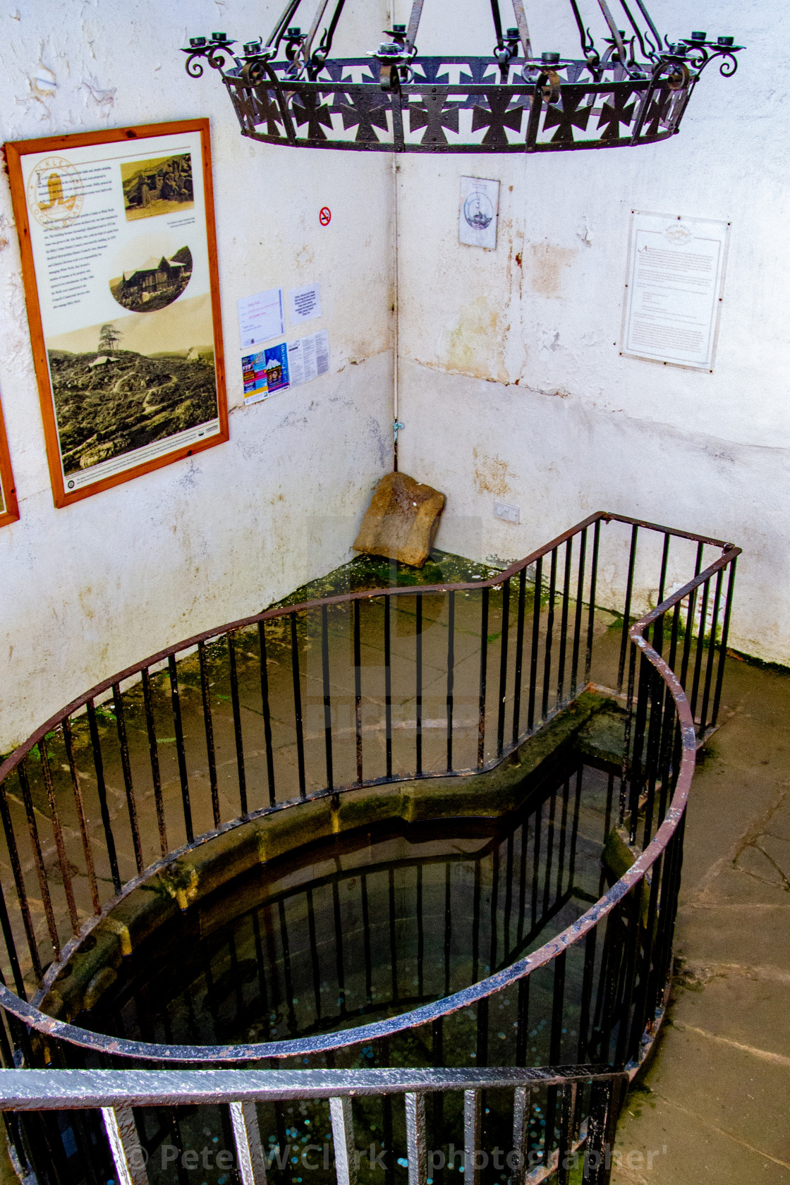 """Plunge Pool at White Wells, Ilkley"" stock image"