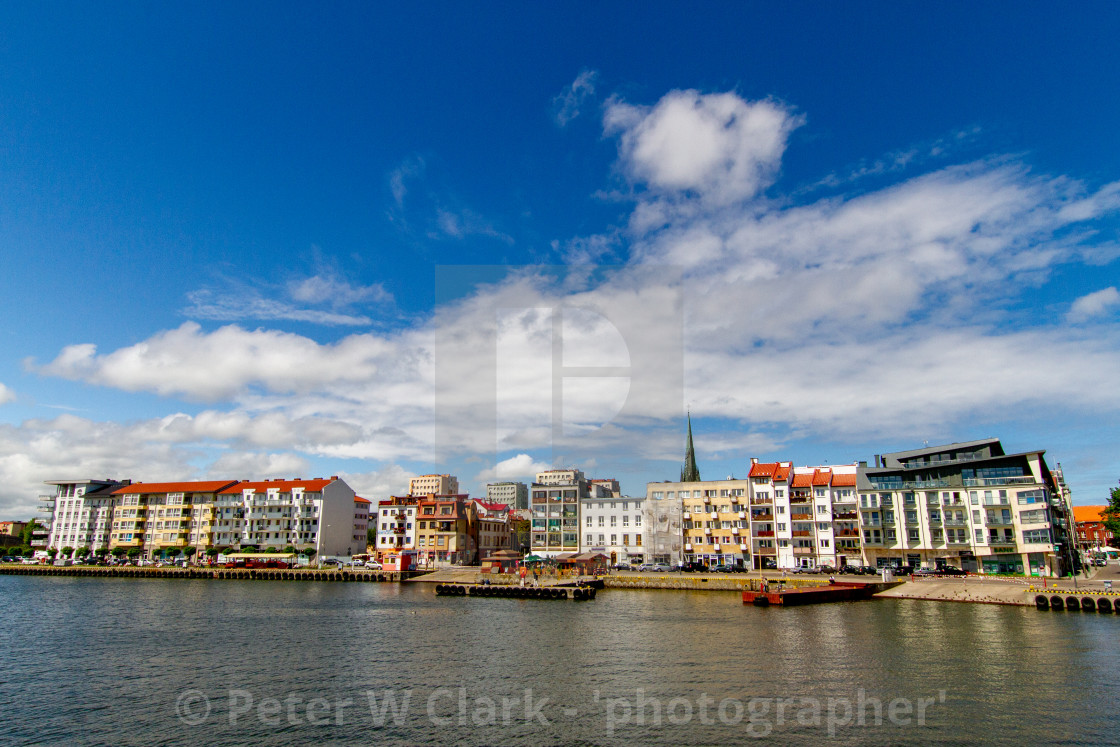 """""""Swinoujscie, Photographs of a Polish Seaport. Jetty and dock"""" stock image"""