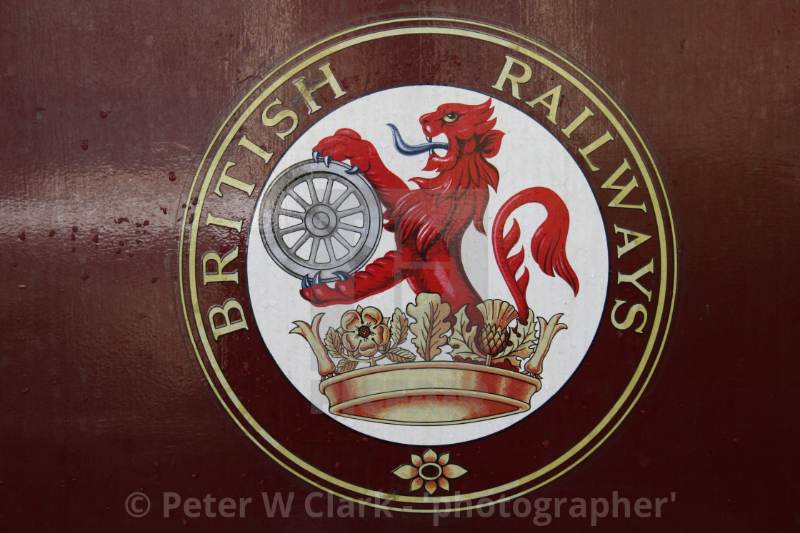 """Embsay and Bolton Abbey Steam Railway. Rolling Stock, Carriage, British Railways Logo."" stock image"