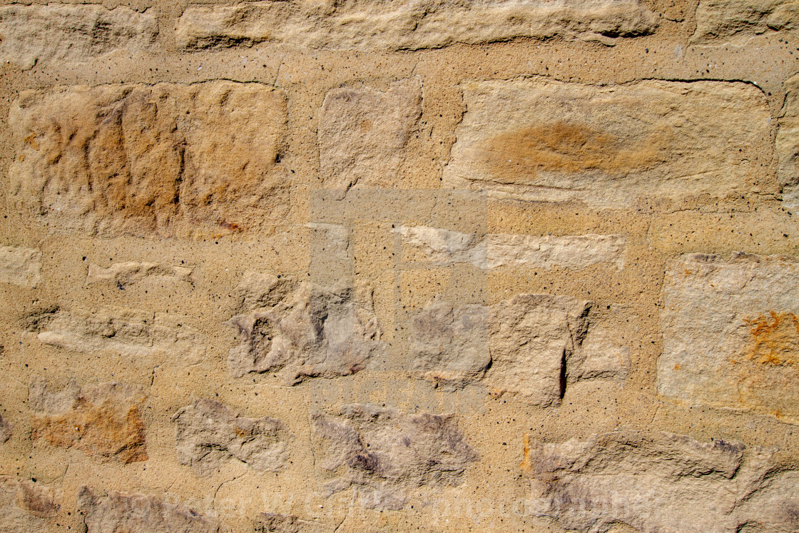 """""""Photograph of Stone Wall with Mortar Pointing."""" stock image"""
