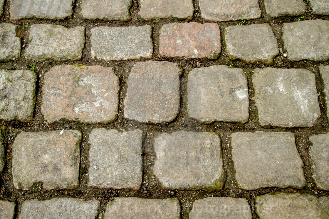 """""""Stone Setts in Kettlewell, a Yorkshire Dales Village."""" stock image"""