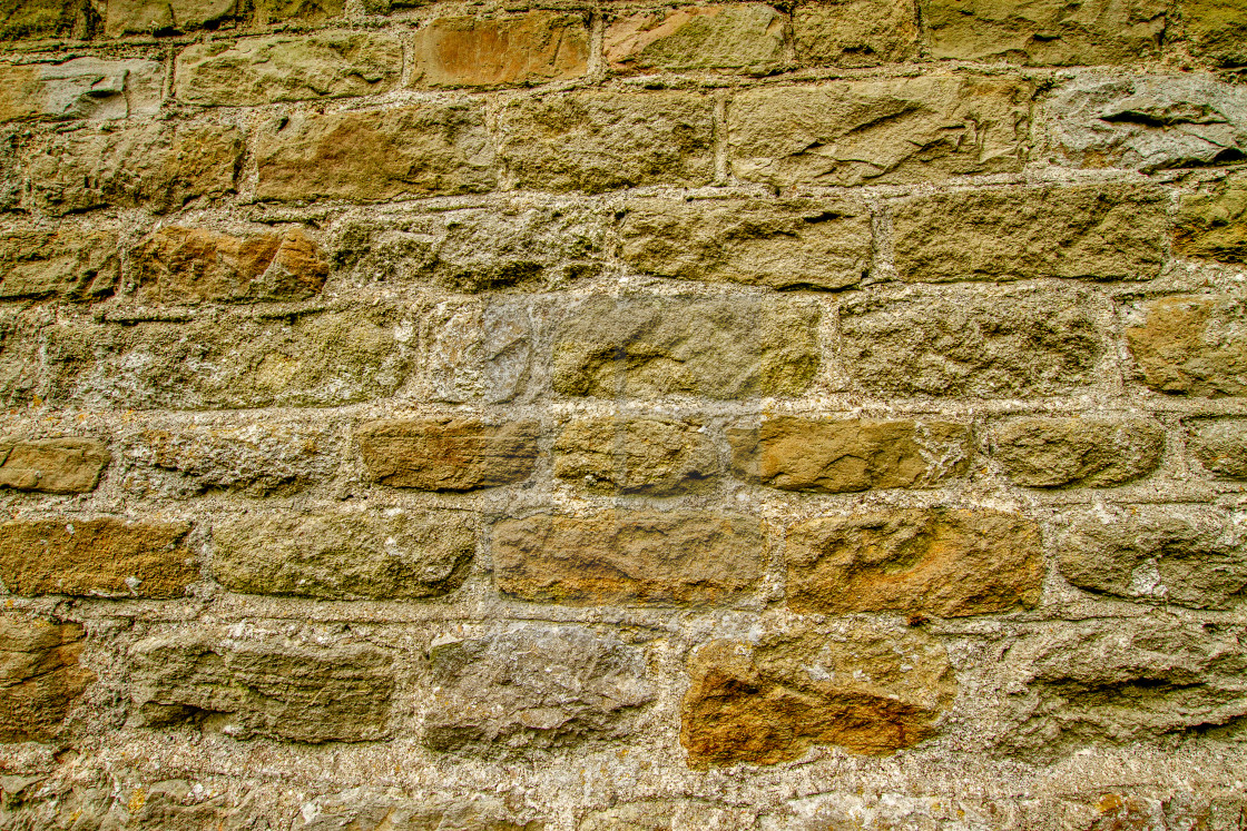 """""""St Mary's church, in Kettlewell, Wharfedale, Stonework on Gable."""" stock image"""