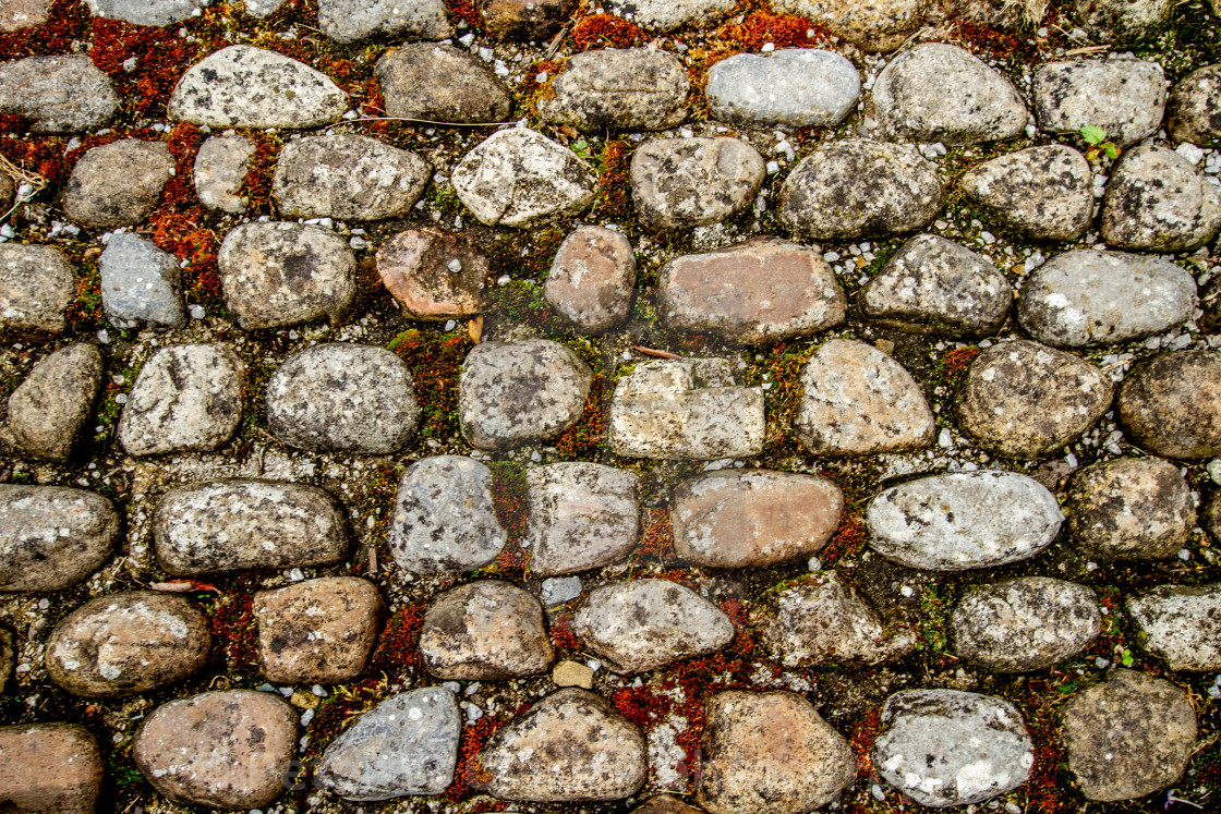 """""""Stone Cobbles in Kettlewell, Wharfedale,"""" stock image"""