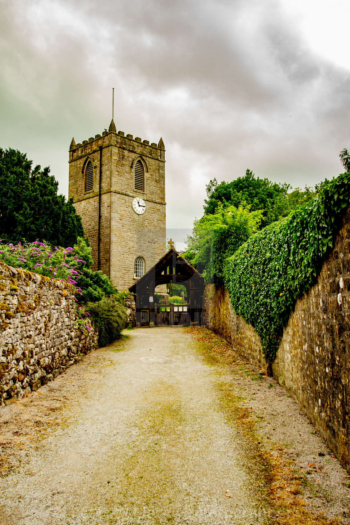 """""""St Mary's church, Kettlewell,Yorkshire Dales."""" stock image"""