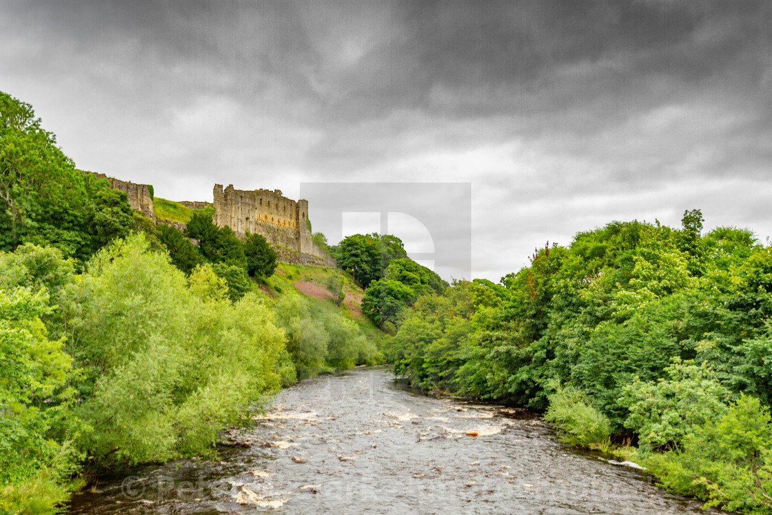 """Richmond Castle, North Yorkshire, England"" stock image"