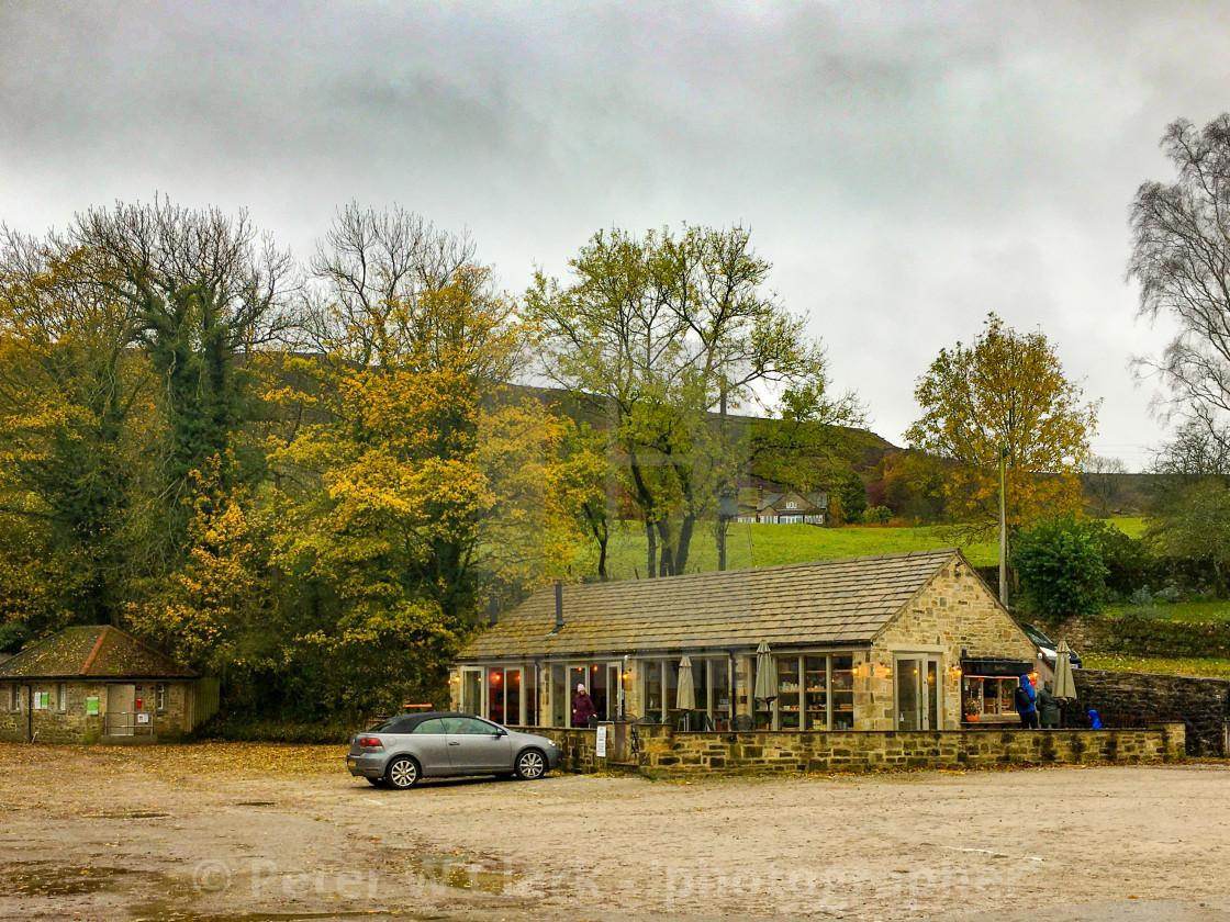 """Riverbank Cafe, Burnsall, Yorkshire Dales, England"" stock image"