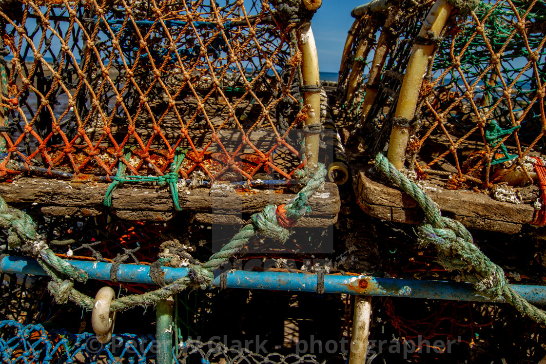 """""""Lobster Trap, Staithes, Yorkshire, England."""" stock image"""