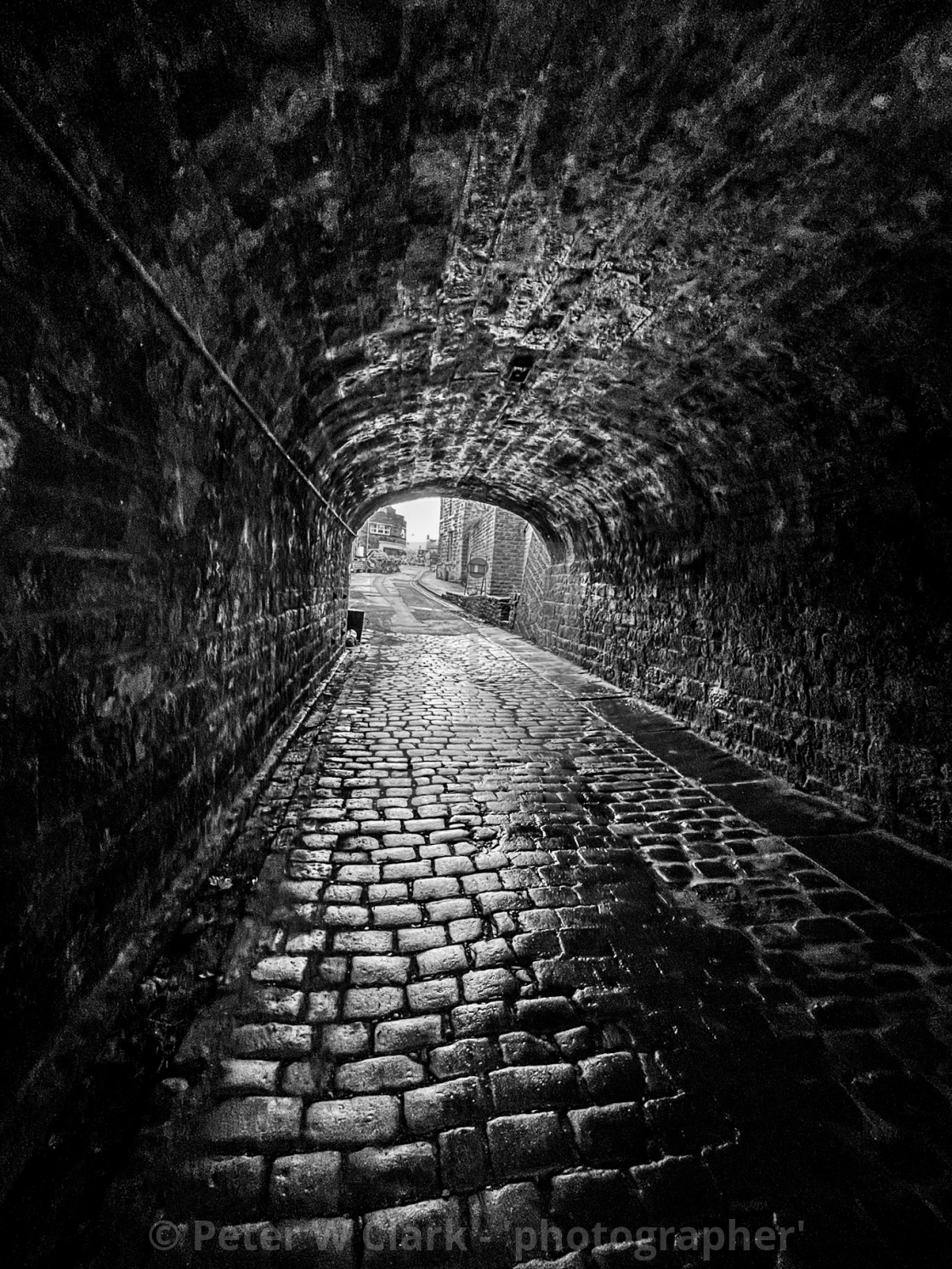 """Aqueduct no.46 under the Leeds Liverpool Canal at Silsden (Cobbydale) Yorkshire, England."" stock image"