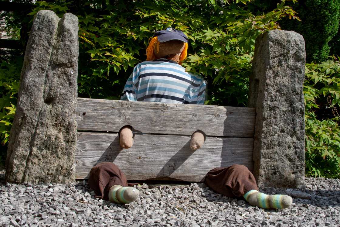 """Kettlewell Scarecrow Festival, Yorkshire Dales."" stock image"