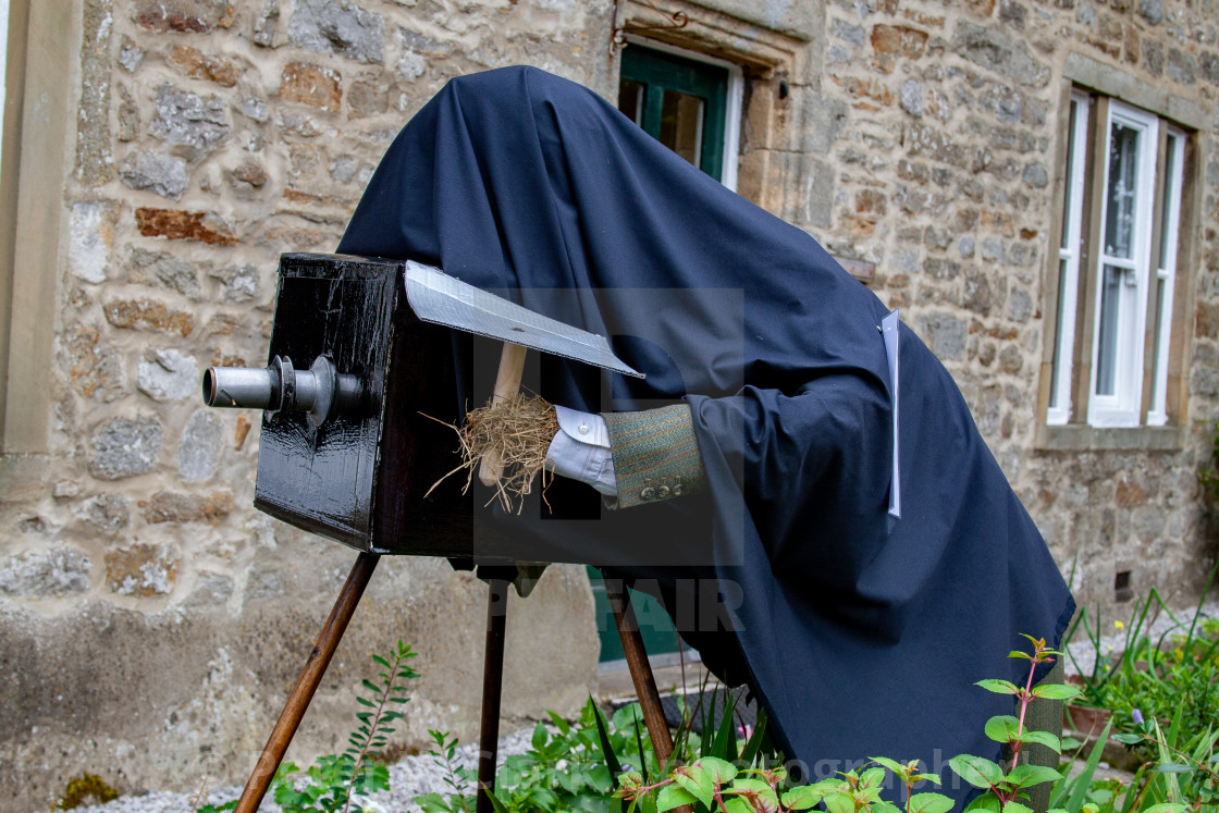 """Kettlewell Scarecrow Festival, Photographer. Yorkshire Dales."" stock image"