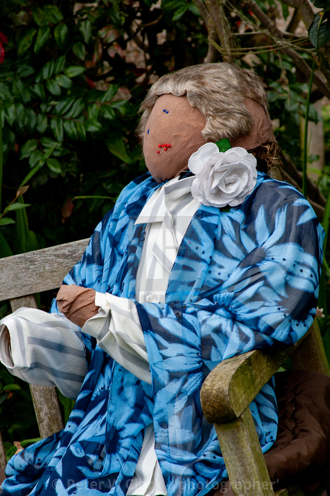 """Kettlewell Scarecrow Festival and Trail, Scarecrow Lady. Yorkshire Dales, England."" stock image"
