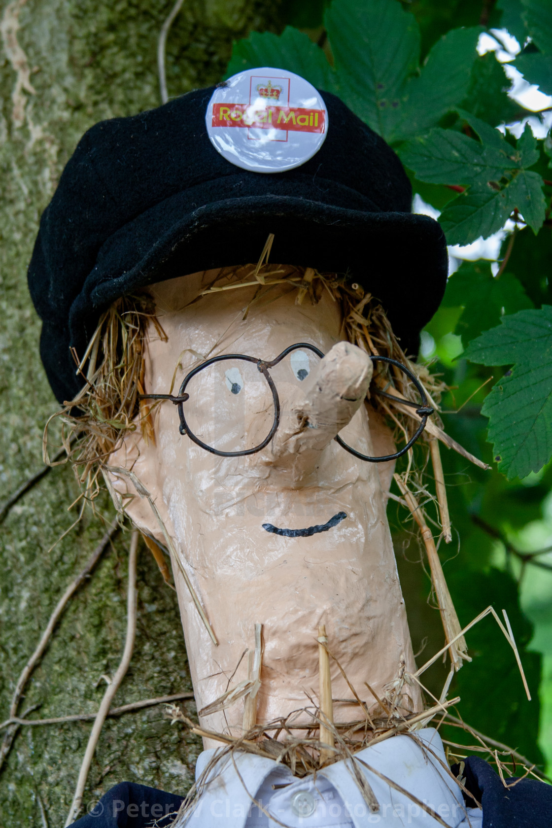 """Kettlewell Scarecrow Festival and Trail, Postman Pat. Yorkshire Dales, England."" stock image"