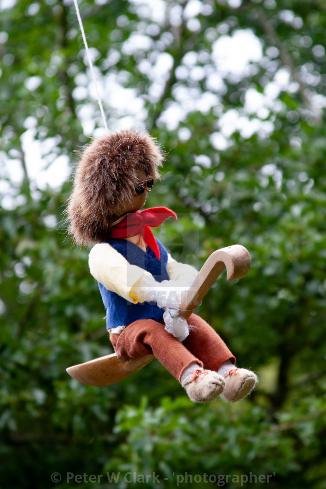 """Kettlewell Scarecrow Festival and Trail, Little Jack Horner. Yorkshire Dales, England."" stock image"