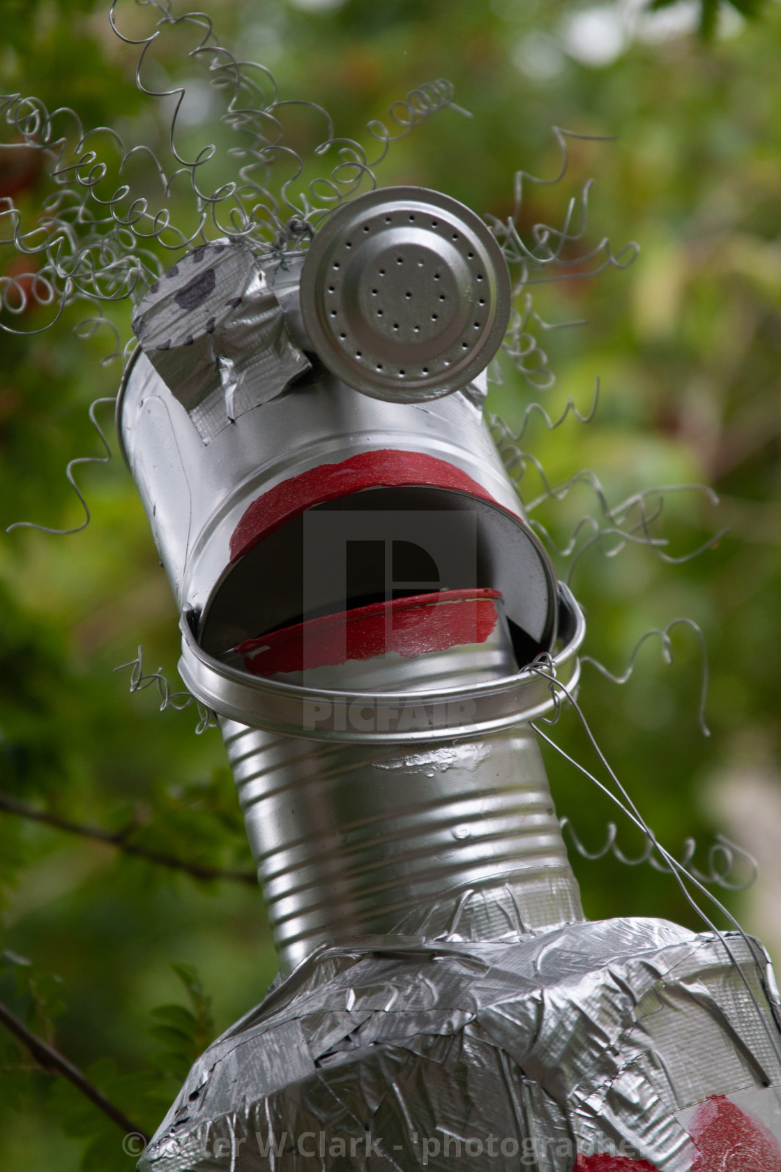 """Kettlewell Scarecrow Festival and Trail, Tin Man. Yorkshire Dales, England."" stock image"