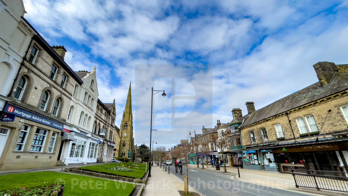 """The Grove, Ilkley, Yorkshire, England."" stock image"