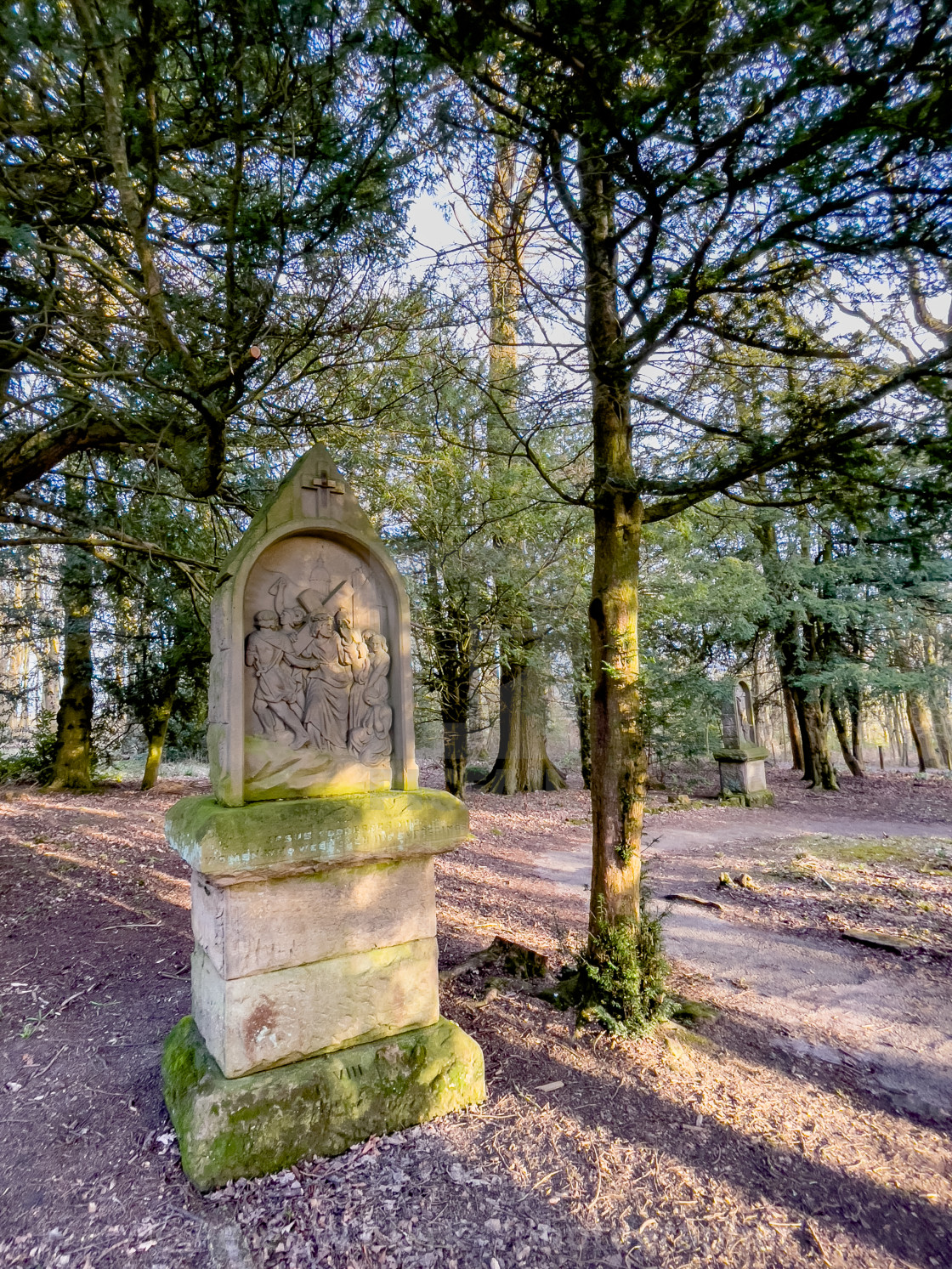"""Calvary, Stations of the Cross, Ilkley, West Yorkshire, England."" stock image"