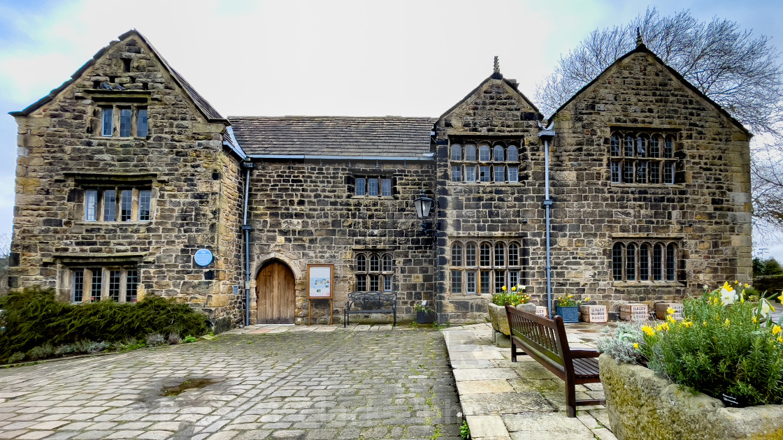 """Ilkley Manor House, Ilkley, Yorkshire, England."" stock image"