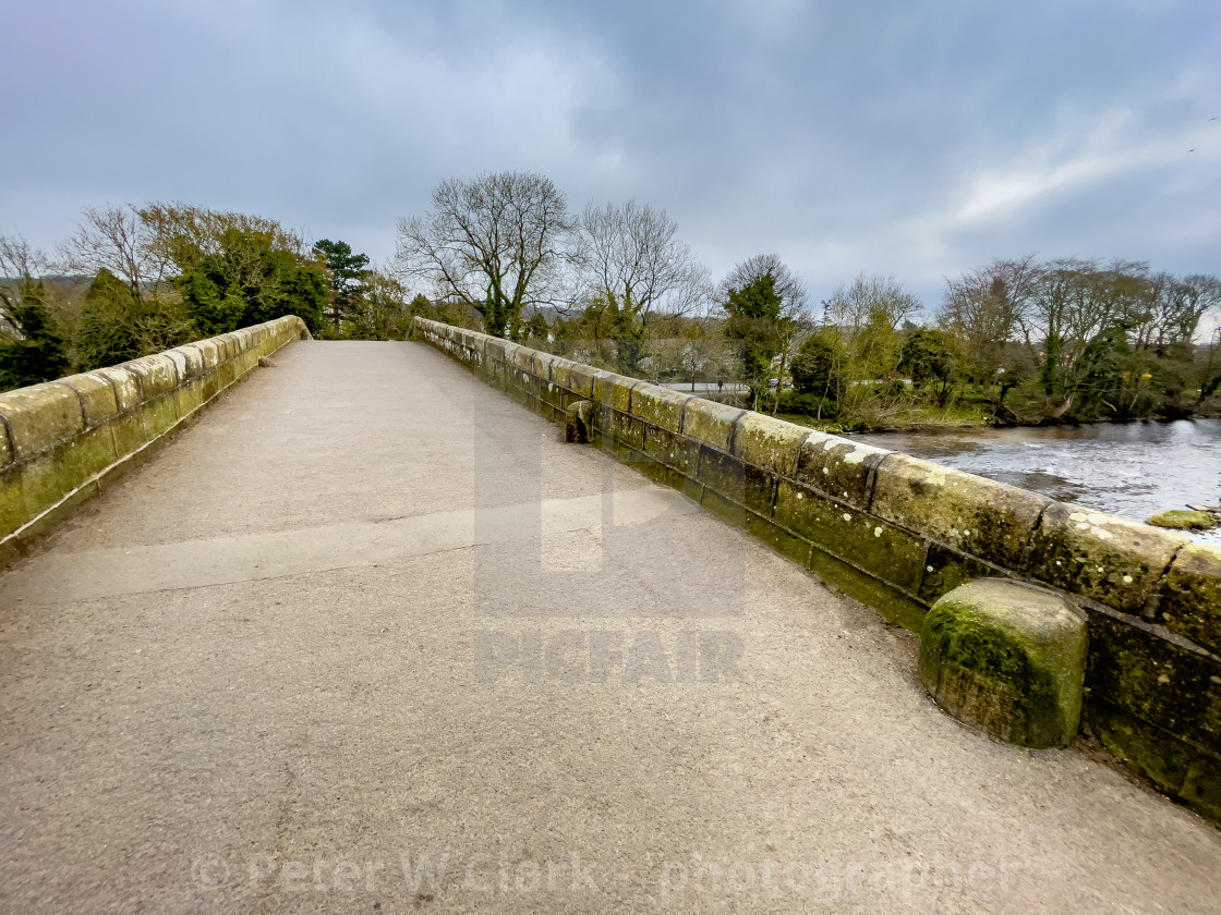 """Packhorse Bridge, Ilkley, Yorkshire."" stock image"