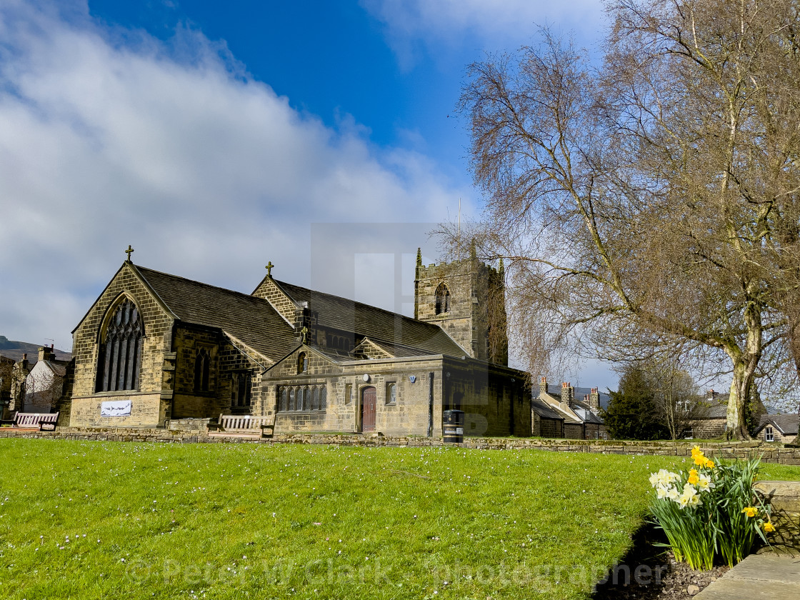 """All Saints Parish Church, Ilkley"" stock image"
