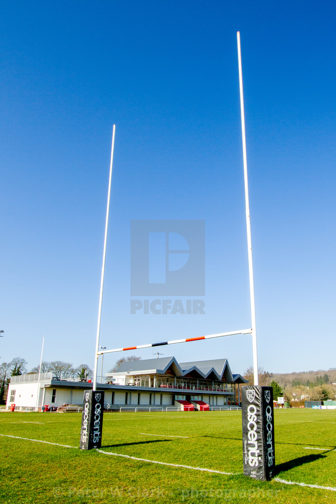 """Ilkley Rugby Club, RFC."" stock image"