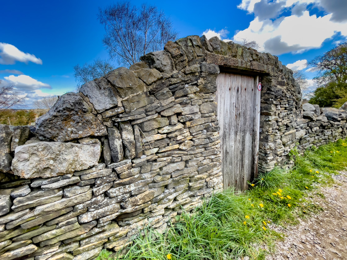"""""""Arched Drystone Wall Doorway."""" stock image"""