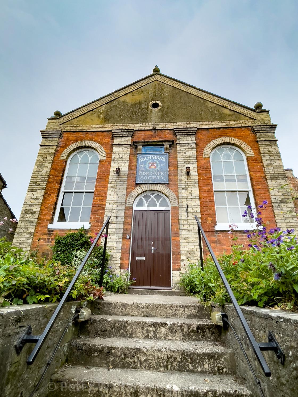 """Richmond Operatic Society Entrance, Yorkshire."" stock image"