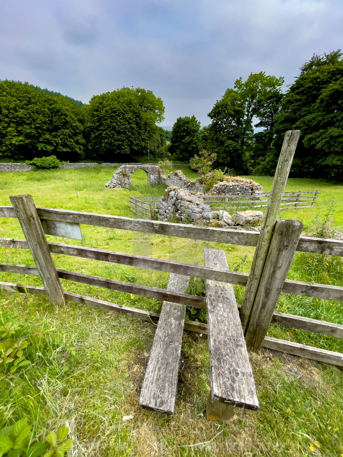 """""""Step Stile at Barden Tower."""" stock image"""