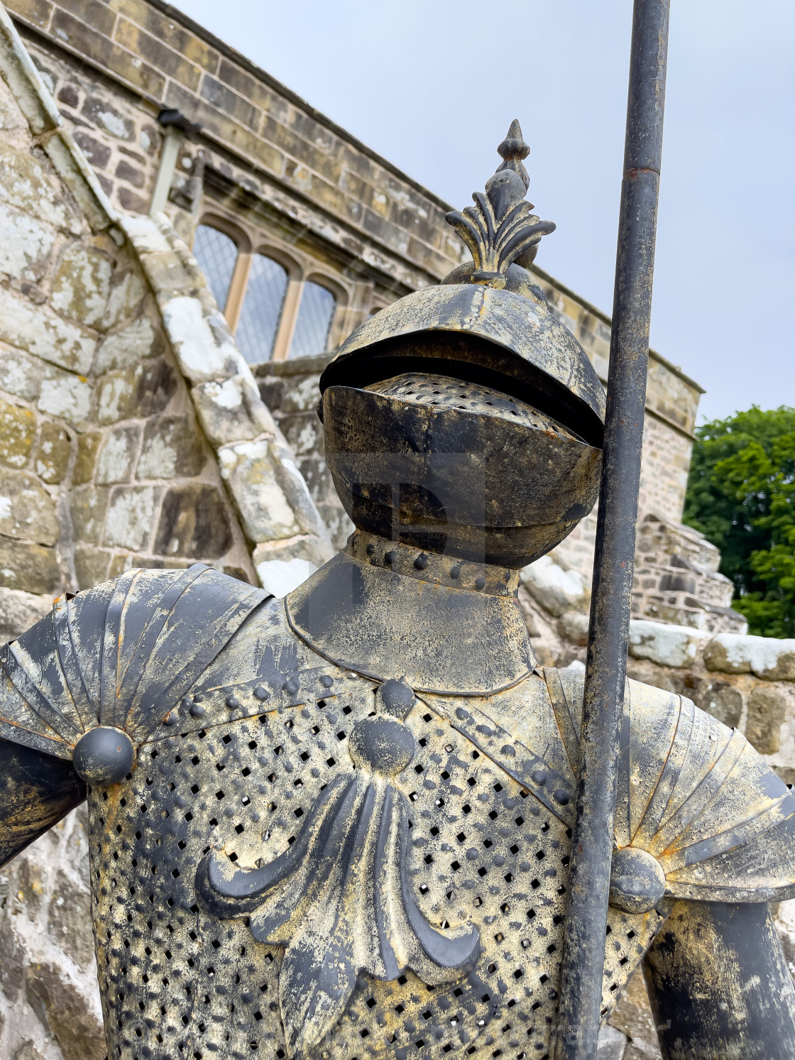 """""""Barden Tower Chapel, Knight in Armour."""" stock image"""