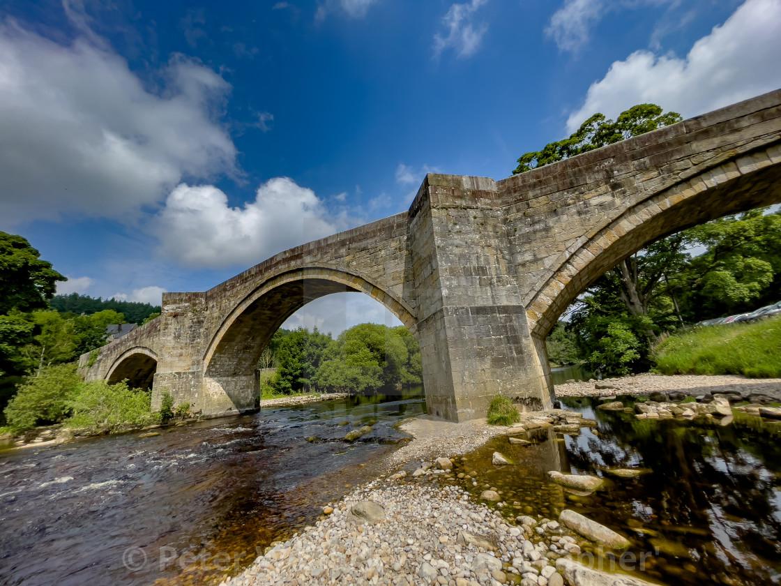 """Barden Bridge over the River Wharfe"" stock image"