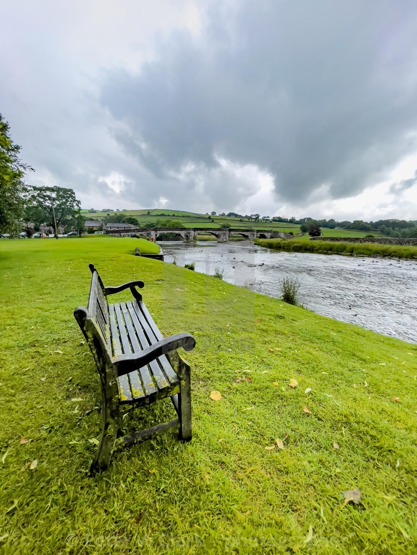 """River Wharfe, Burnsall."" stock image"