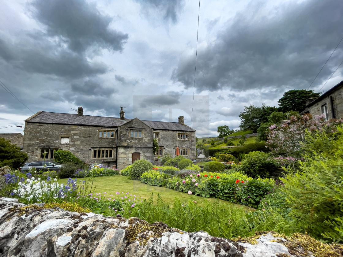 """Grassington, Stone Built Period House."" stock image"