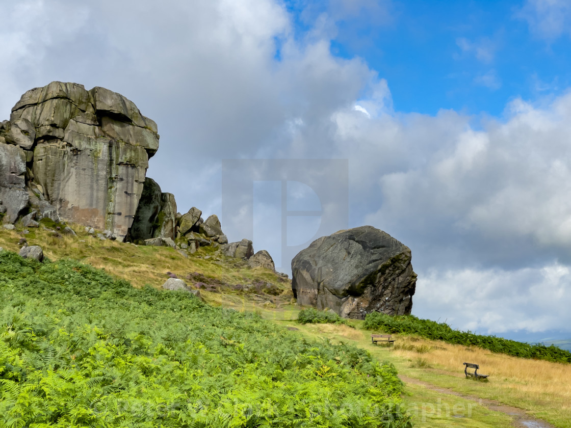 """""""Cow and Calf Rocks, Seat."""" stock image"""