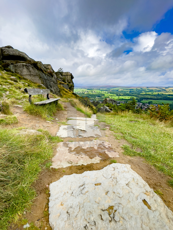 """Cow and Calf Rocks, Ilkley Moor"" stock image"