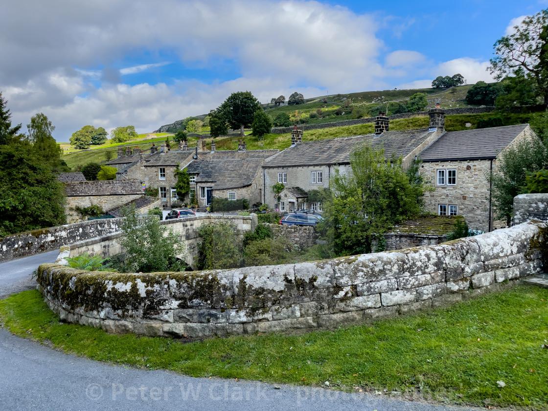 """Hebden, a Yorkshire Dales Village."" stock image"