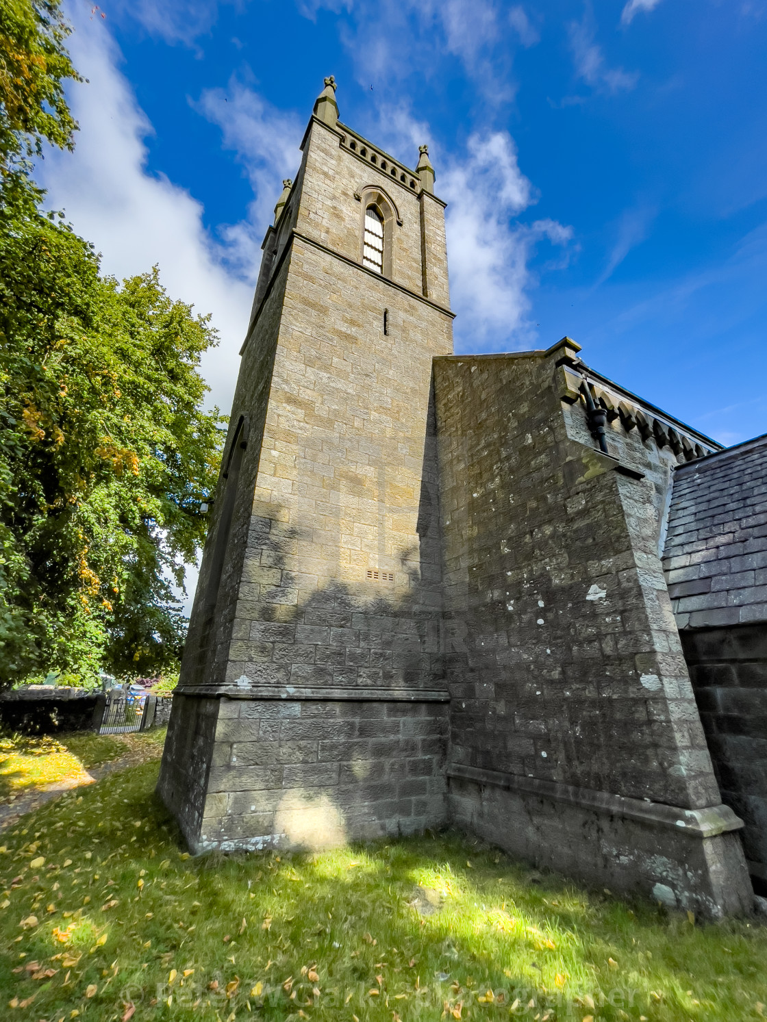 """""""St Peter's Church, Hebden, Yorkshire Dales"""" stock image"""