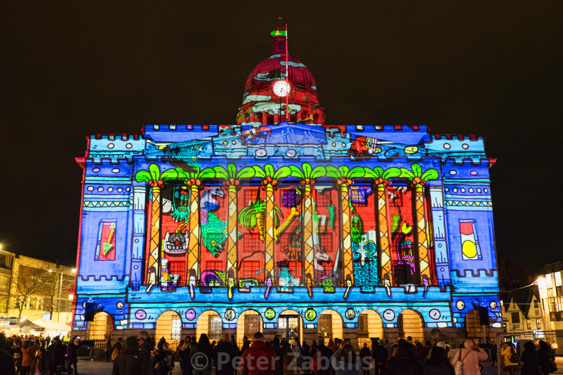 """Nottingham Light Night 2020"" stock image"