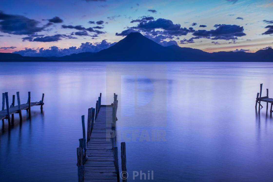"""Lake Atitlán, Guatemala"" stock image"
