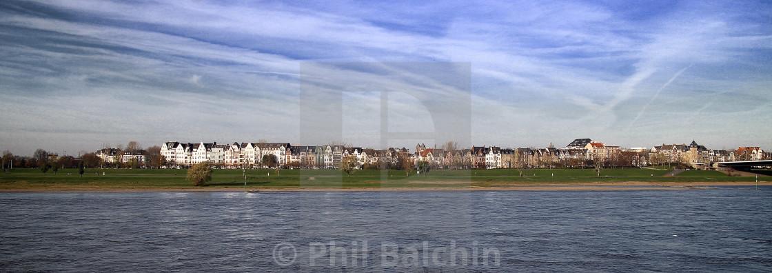 """Banks of the Rhein"" stock image"