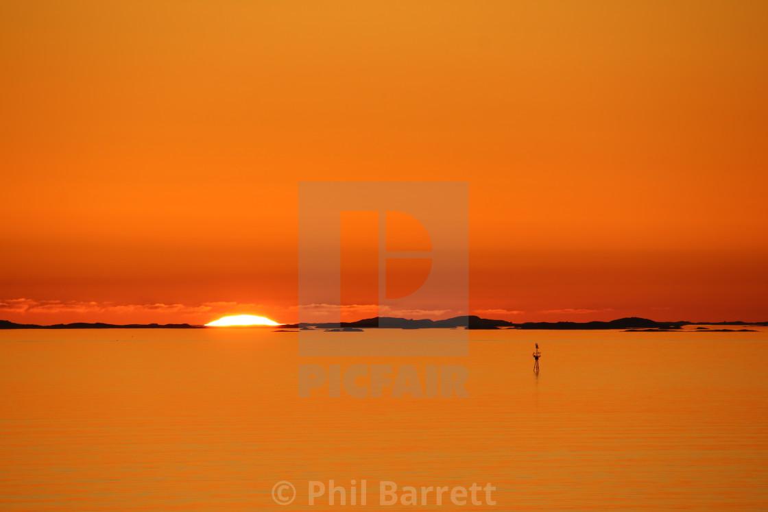 """""""Lofoten Sunset"""" stock image"""