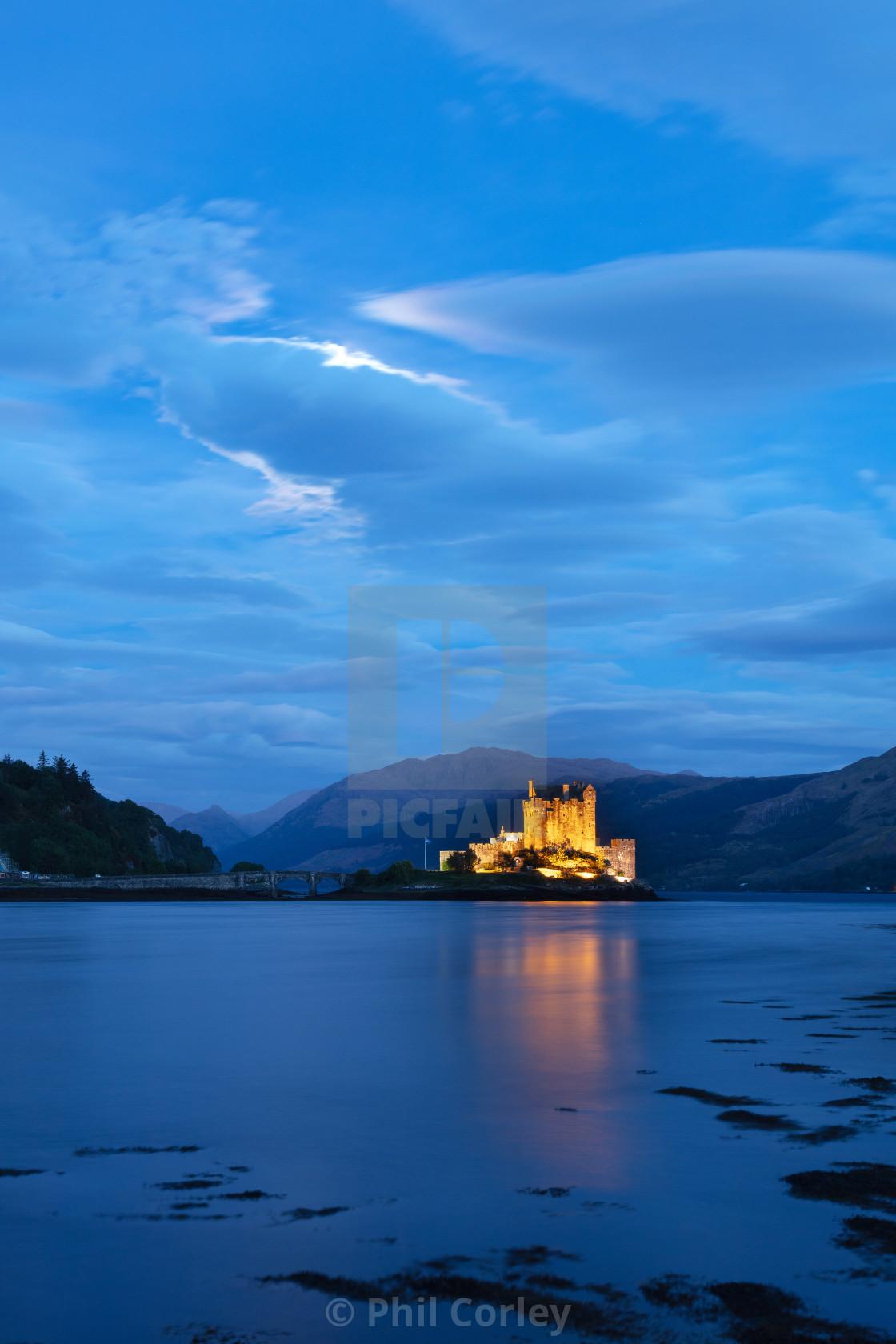 """""""Blue Hour Eilean Donan Castle"""" stock image"""