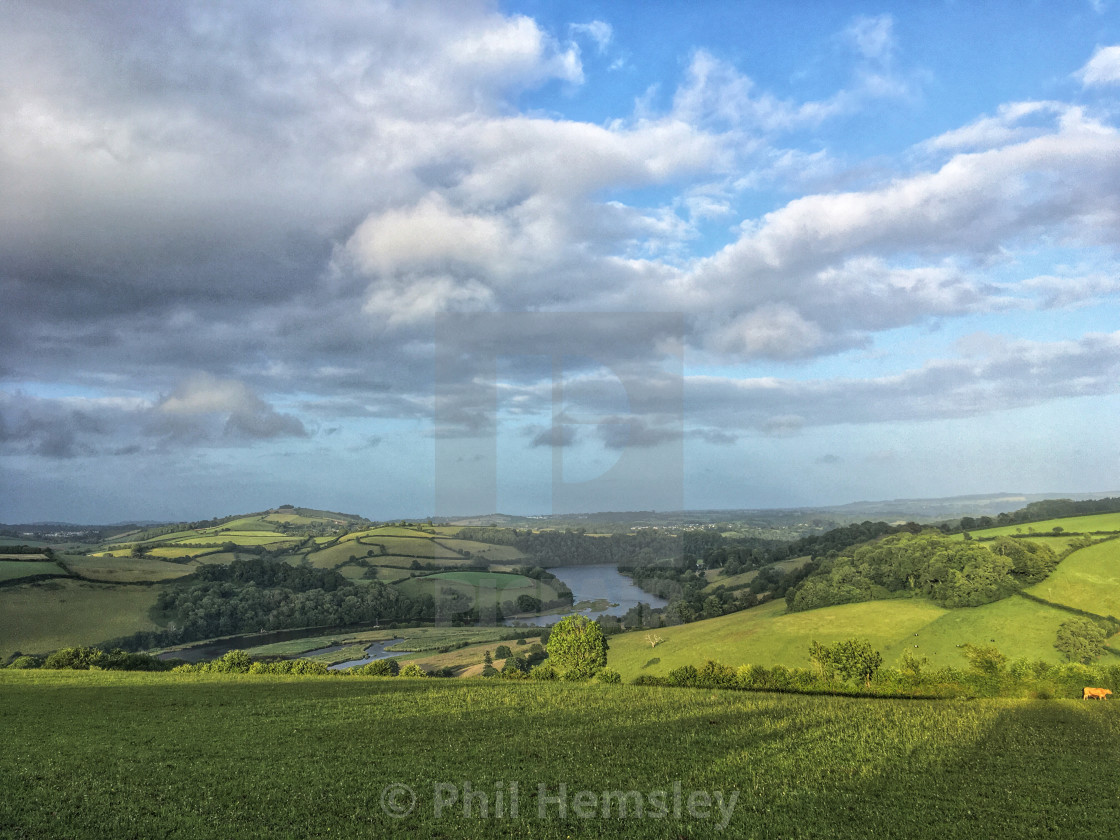 """Dart estuary - evening light"" stock image"