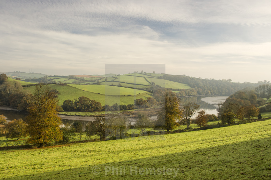"""Sharpham - Dart estuary"" stock image"