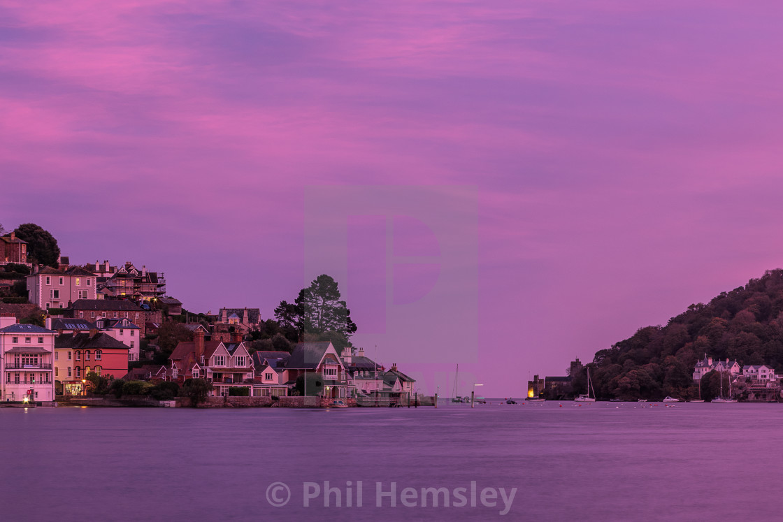 """Afterglow - Kingswear & Dartmouth"" stock image"