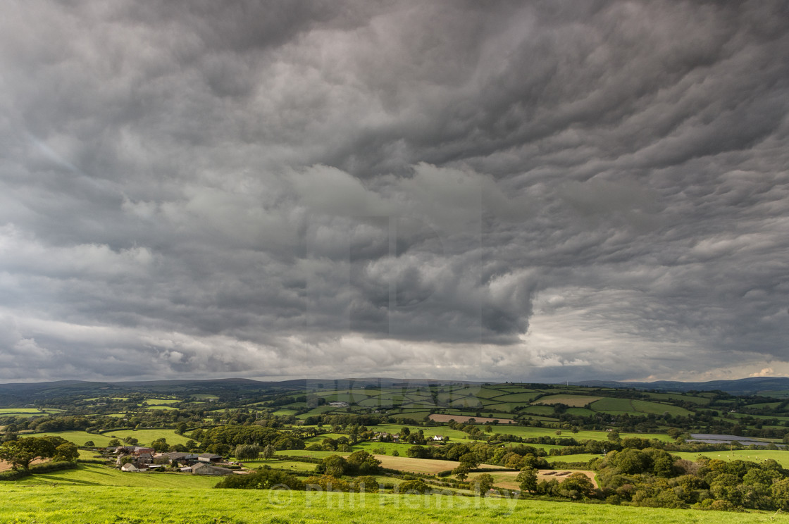 """Asperitas Clouds - Blakemore Down"" stock image"