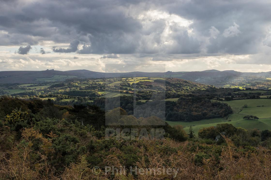 """Pepperdon Down to Dartmoor"" stock image"