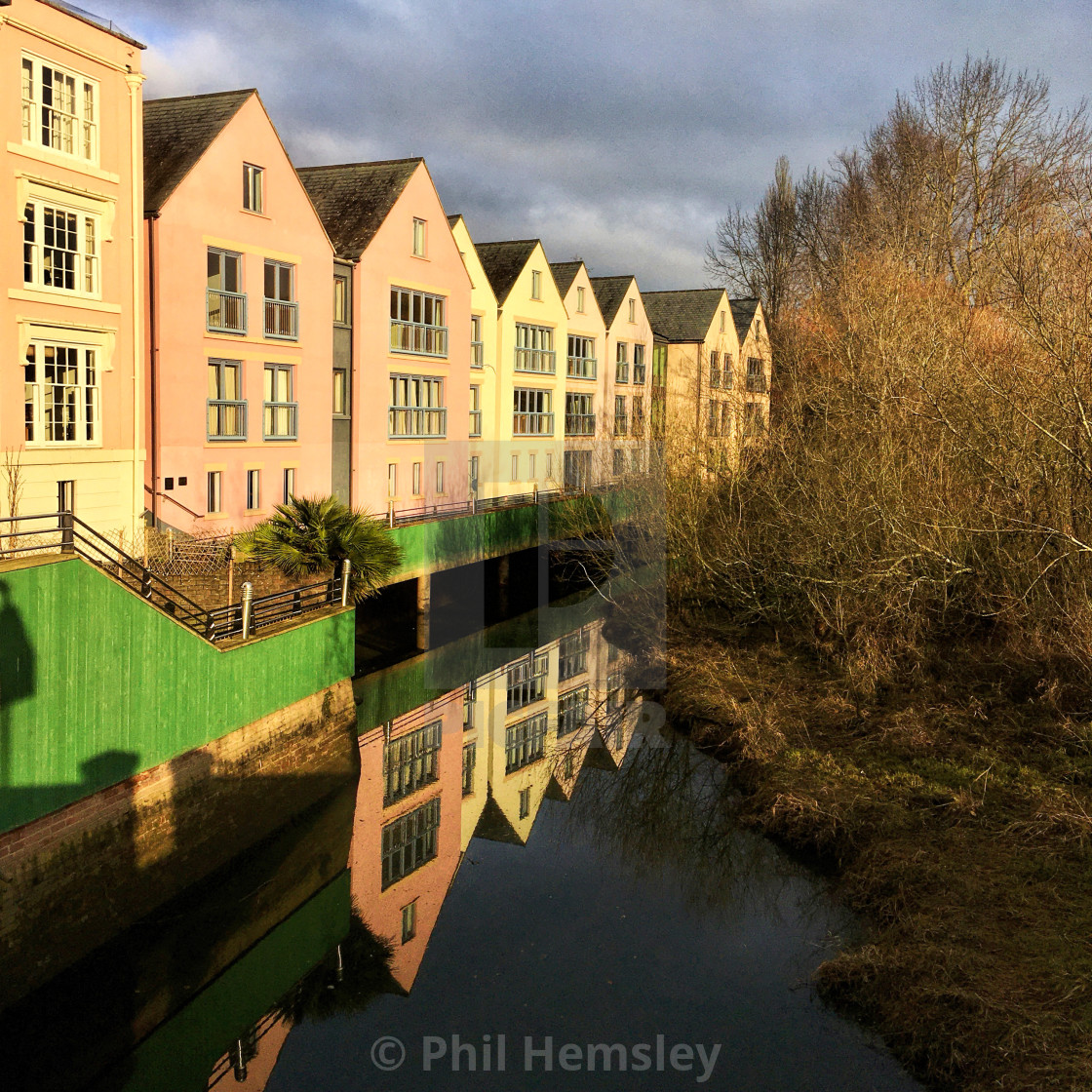 """Mill Leat - transient light"" stock image"